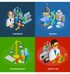 Science Concept Icons Set vector image