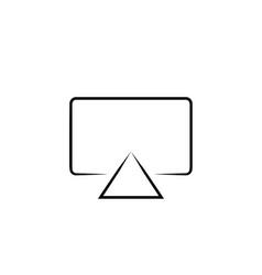 Screen cast icon vector