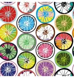 Seamless pattern wheels vector