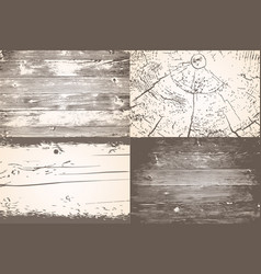 Set of wooden planks overlay texture shabby chic vector