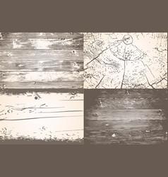 Set wooden planks overlay texture shabchic vector