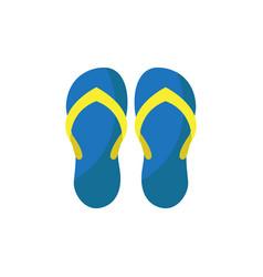 Simple beach sandals vector