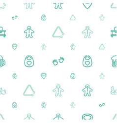 Small icons pattern seamless white background vector