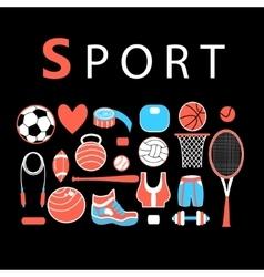 Sporting bright set vector