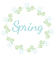 Spring Floral Wreath vector image
