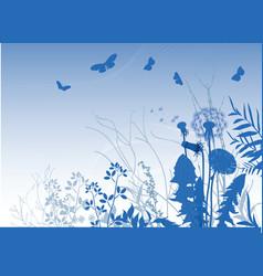 Spring meadows background vector