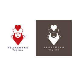 Stylized image king hearts for avatar logo vector