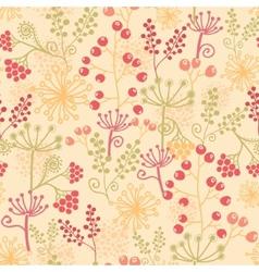 Summer berries seamless pattern background vector