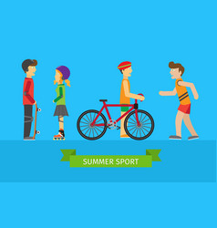 summer sport children on the playground vector image
