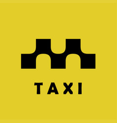 taxi logo sign squares with smooth connections vector image