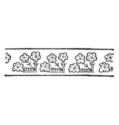 turkish design have floral border design vintage vector image