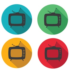 tv flat vector image