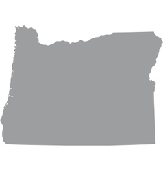 US state of Oregon vector image