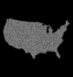 usa map mosaic of dots vector image