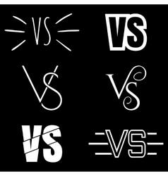 Versus letters logo White V and S symbols vector image