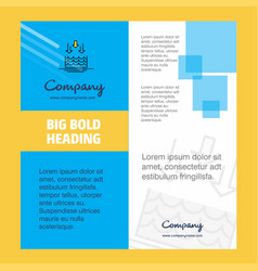 Water evaporation company brochure title page vector