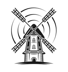 windmill with rotation lines vector image