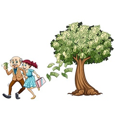 Woman with rich old man vector image