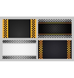 Business cards taxi set new vector image vector image