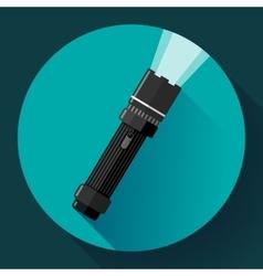 Flashlight icon Flat design style vector image vector image