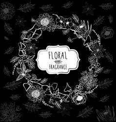 Floral Black Background vector image