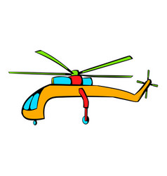 helicopter icon icon cartoon vector image