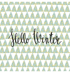 Hello Winter handlettering inscription Winter vector image vector image