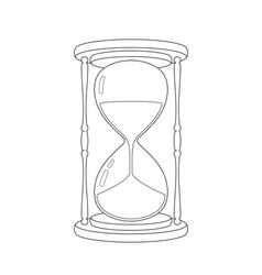 hourglass sketch vector image