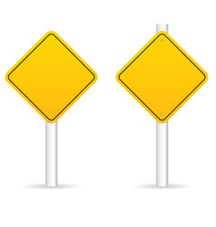 road traffic sign in yellow empty set vector image vector image
