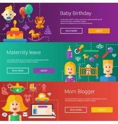 Set of baby motherhood flat modern vector image