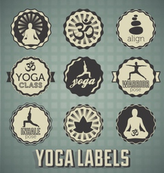 Yoga Labels vector image