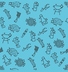 barbecue and grill icon pattern vector image vector image