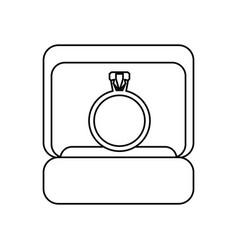 box ring wedding symbol outline vector image vector image