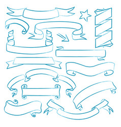 collection of hand drawn banners vector image vector image