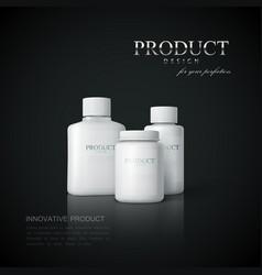 medicine package design vector image