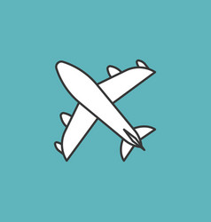 plane icon thin line vector image
