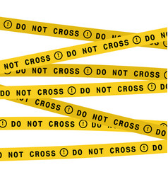 police line do not cross tape flat style vector image