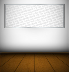 Big frame in hall with wooden floor vector image