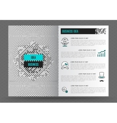 Business brochure design template layout Line icon vector image vector image