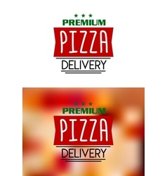 Pizza delivery labels vector image vector image
