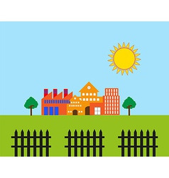 Real estate landscape vector image
