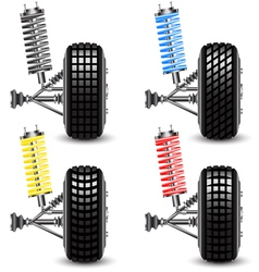 Set front car suspension vector image vector image