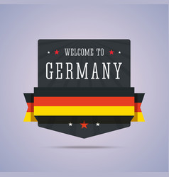 Welcome to Germany badge with national flag vector image