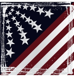 American flag grunge style vector image vector image