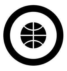 basketball ball icon black color in circle vector image vector image