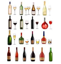 big set of different drinks vector image
