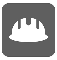 Builder Hardhat Flat Squared Icon vector image
