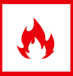 fire icon isolated on white background vector image vector image