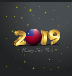2019 happy new year samoa flag typography vector