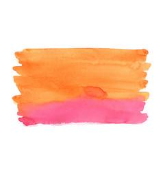 abstract orange and red watercolor background vector image